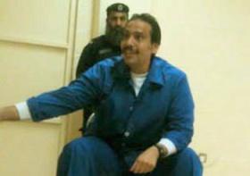 Al-Ajami in prison. From al-Arab online.