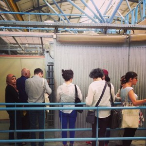 As author Mischa Hiller remarked on Twitter: Do they have to go through checkpoints like this at Hay Festival?