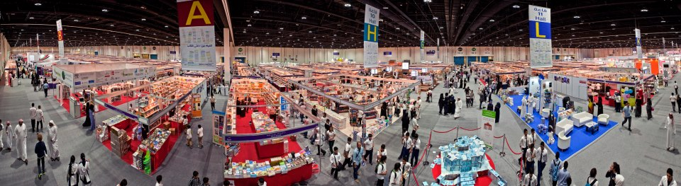 Cool panoramic shot. Photo credit: Abu Dhabi International Book Fair.