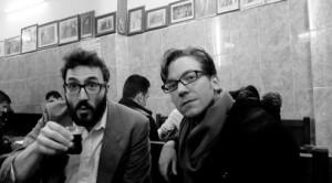 Ryan Van Winkle with Reel Iraq poet Dan Gorman