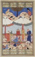 Nizami miniature: Layla and Majnun meet for the last time before their deaths.