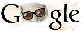 The Google Doodle for Mahfouz's birthday in 2009.