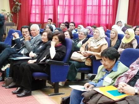 At the conference celebrating her work, March 2014. Photo credit: Amira Abd El-Khalek.