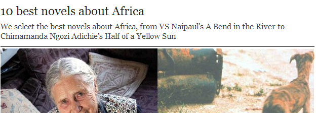 That's Enough. No More 'Top 10 Novels About Africa'