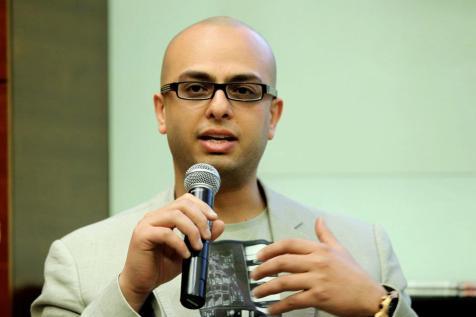 Mourad at the Emirates Airline Festival of Literature in Dubai, 2012