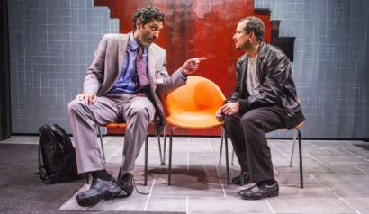 "Selva Rasalingam as Kevin/Khaled Al Hamrani and Nabil Elouahabi in ""The Nightmares of Carlos Fuentes."""