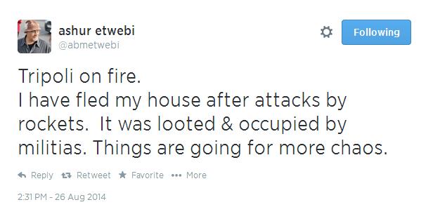 Libyan Poet Ashur Etwebi Forced from Home After Rocket Attack