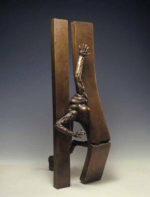 Sculpture by Sami Mohammed.
