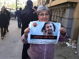 Campaigning for the release of Alaa Abd El-Fattah.