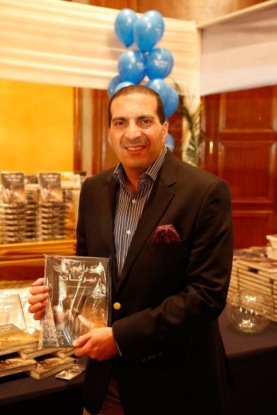 The author with his book.