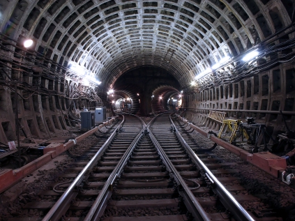Tunnels feature prominently in the book.
