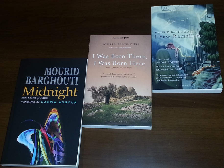 Translations of Barghouti's work. Photo credit: Sawad.