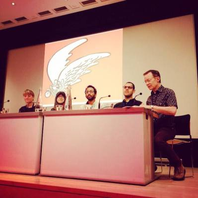 The comix panel. Photo credit: Shubbak Festival.