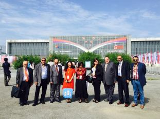 The Egyptian contingent at this year's BIBF. Photo from Sherif Bakr.