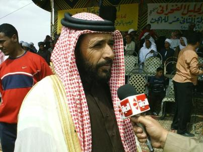 Hajaya at a poetry festival in Isma'iliya, Egypt in 2010