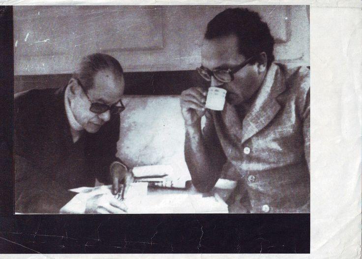 With Naguib Mahfouz at Cafe Riche, from Pinterest https://www.pinterest.com/pin/248401735667143095/