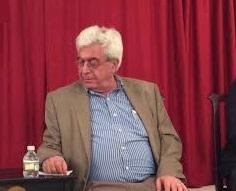 Elias Khoury before the Center for Fiction talks began.