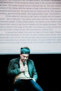 Blasim reading. Image from his website.