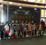 Children visiting the fair.