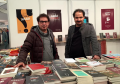 At left, award-winning Iraqi novelist Ali Bader.