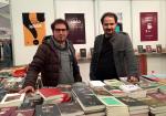 At left, award-winning Iraqi novelist Ali Bader.
