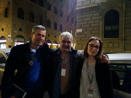 Khalifa, currently in Italy, pictured with Editoriaraba journalist, scholar, and blogger Chiara Comito.