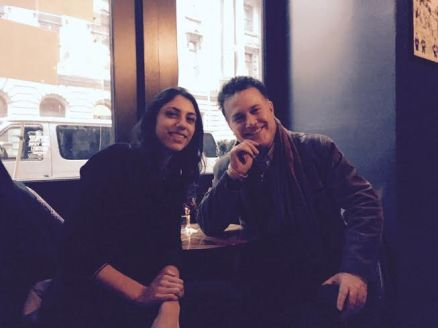 Translator Emma Ramadan with author Fouad Laroui.