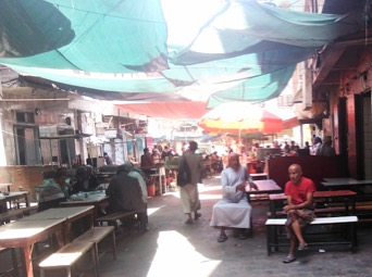 From ArabStages, a current photo of Restaurant Street. Photo credit: Wajdi al-Ahdal