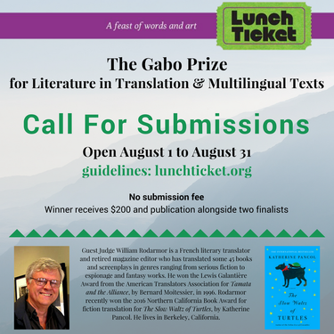 Sunday Submissions: The Gabo Prize for Literature in Translation & Multilingual Texts