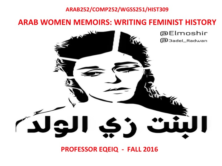 Teaching with Arabic Literature in Translation: 'Arab Women Memoirs, Writing Feminist History'