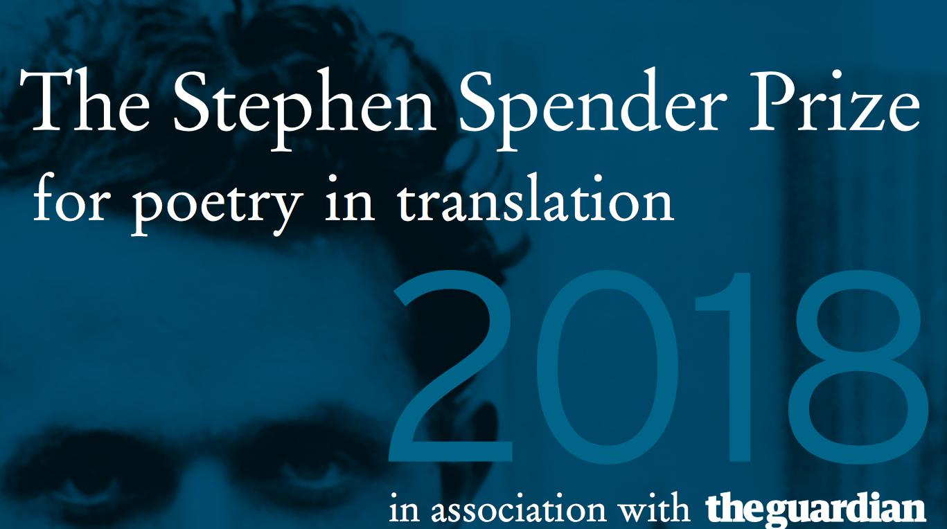 Sunday Submissions: 2018 Stephen Spender Prize for Poetry in Translation Open Now