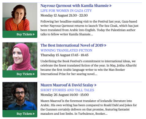5 Books: Arabic Literature at the 2019 Edinburgh International Book